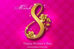 Share Vector ngày Quốc tế phụ nữ 8/3 đẹp, sang trọng