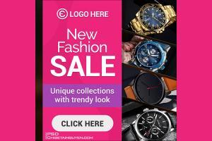 Free PSD banner template quảng cáo thời trang đẹp ấn tượng - Mẫu 02
