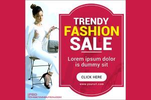 Free PSD banner template quảng cáo thời trang đẹp ấn tượng - Mẫu 05