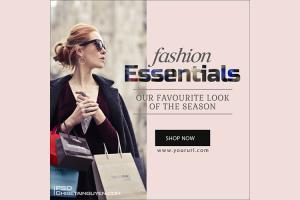 Free PSD banner template quảng cáo thời trang đẹp ấn tượng - Mẫu 07