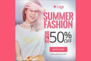 Free PSD banner quảng cáo thời trang xuân-hè đẹp rực rỡ nhất 2019