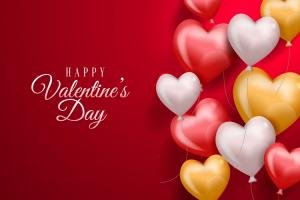 Vector nền chúc mừng valentine đẹp ấn tượng