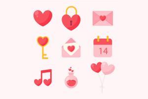 Tải vector trang trí valentine đẹp miễn phí