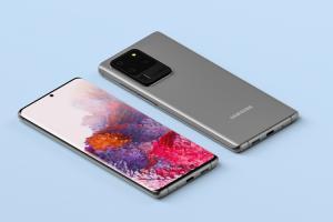 Chia sẻ file PSD mockup Samsung S20 Ultra đẹp, ấn tượng