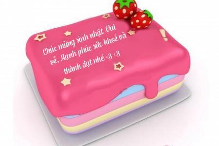 Viết lời chúc lên bánh sinh nhật