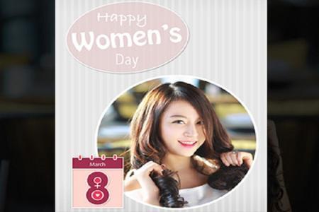 Thiết kế khung ảnh happy woman day lãng mạn, đầy ý nghĩa