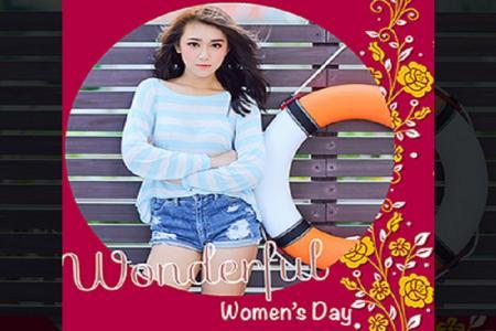 Hướng dẫn ghép ảnh women day trực tuyến