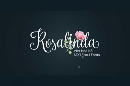 Font chữ viết tay Rosalinda Việt hóa