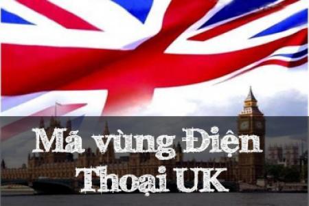 Mã vùng điện thoại nước Anh (UK)