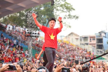 U23 Việt Nam gặp gỡ người hâm mộ tại thành phố Hồ Chí Minh
