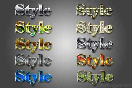 Chia sẻ 10 kiểu style sang trọng dùng trong photoshop