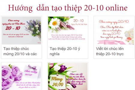 Hướng dẫn tạo thiệp 20-10 online, thiệp 20-10 trực tuyến ghi lời chúc của riêng bạn