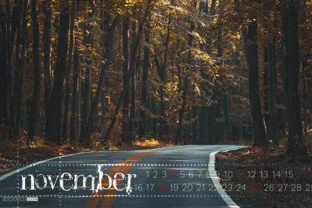Trọn sắc thu cùng bộ hình nền Desktop tháng 11 có lịch đẹp lung linh nhất