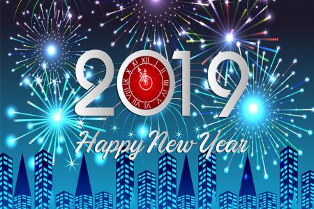 Free Vector Happy New Year 2019, background nền chúc mừng năm mới 2019 đẹp nhất