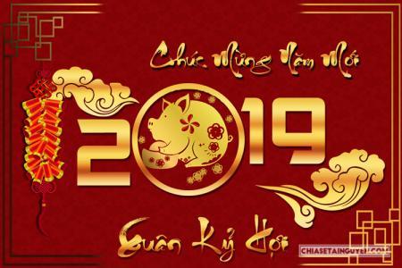 Chia sẻ bộ thiệp Tết 2019 chào xuân Kỷ Hợi đẹp lung linh nhất