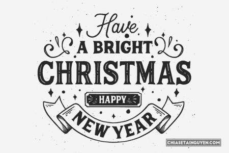 Free vector chữ mừng giáng sinh và năm mới 2019 đẹp lung linh