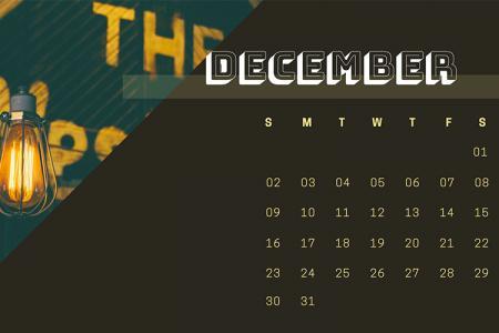 Tổng hợp 15 hình nền Desktop tháng 12 có lịch đẹp ấn tượng
