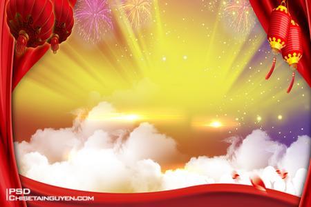 Chia sẻ banner Tết 2020 background Năm mới 2020 PSD