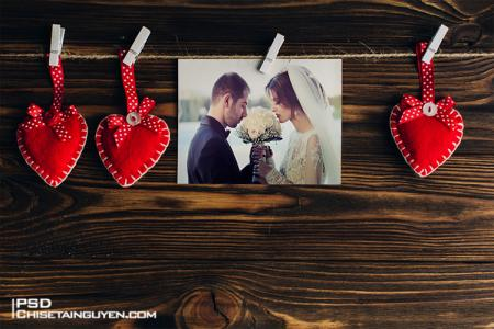 Free Download PSD Mock-up khung ảnh tình yêu đẹp lãng mạn