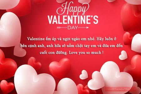 Thiệp Valentine 2019 kèm lời chúc Valentine lãng mạn nhất