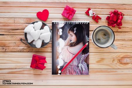 PSD Mockup khung ảnh tình yêu- Ghép ảnh đẹp tình yêu qua Photoshop