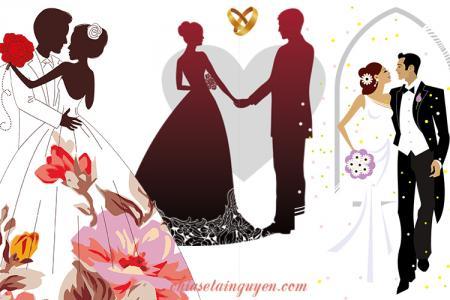 Chia sẻ PNG cô dâu, chú rể trang trí thiệp cưới đẹp