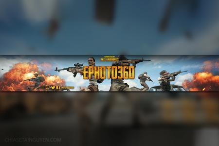 Banner PUBG - Tạo ảnh bìa cover youtube PUBG online cực chất