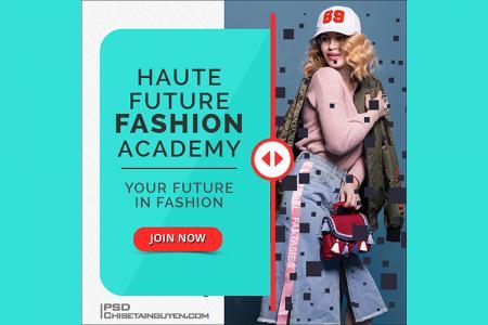 Free PSD banner template quảng cáo thời trang đẹp ấn tượng - Mẫu 09