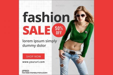 Tải PSD miễn phí - PSD banner quảng cáo thời trang mới nhất 2019