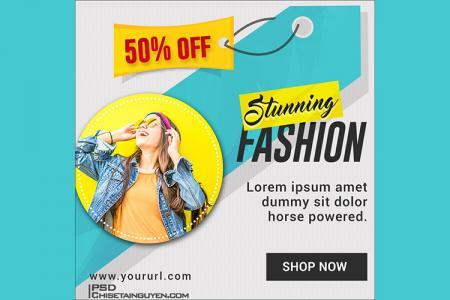 Mời tải về file PSD banner quảng cáo, giảm giá đẹp cho Marketing online