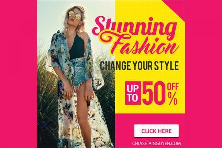Free file PSD template thiết kế banner quảng cáo đẹp miễn phí