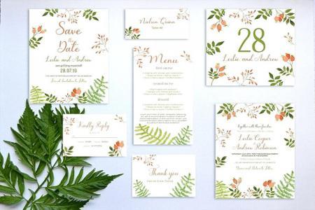 Download PSD thiệp mời cưới Floral trang nhã cho mùa cưới 2019