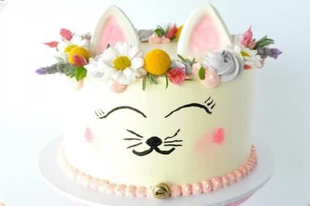Top 17 chiếc bánh sinh nhật con mèo, bánh kem mặt mèo đẹp dễ thương nhất