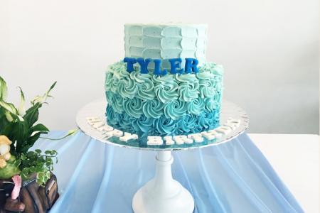 Hình ảnh 15 chiếc bánh gato, bánh sinh nhật màu xanh ngọc đẹp không tỳ vết