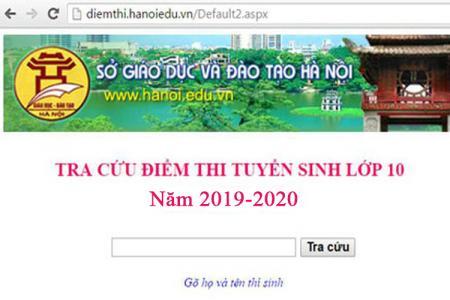 Tra cứu điểm thi vào lớp 10 THPT năm 2019 tại Hà Nội nhanh, chính xác nhất