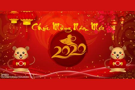 Free download banner, background chúc mừng năm mới 2020 PSD