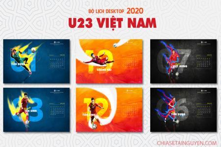 Chia sẻ banner U23 Việt Nam, bộ hình nền lịch bóng đá U23 VN năm 2020