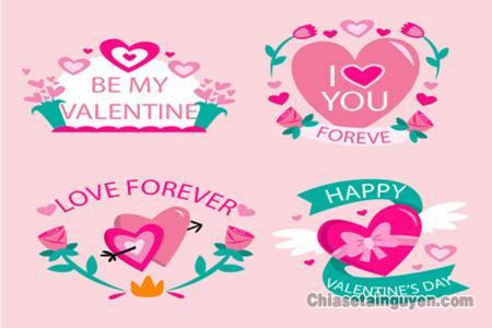 Mẫu vector biểu tượng valentine đẹp, độc đáo