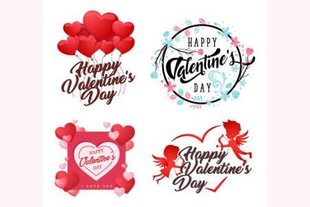 Download miễn phí vector biểu tượng trang trí valentine đẹp