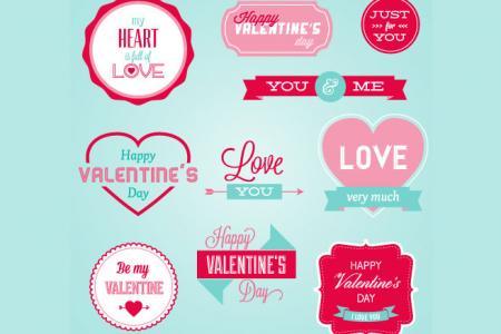 Vector mẫu trang trí valentine đẹp cho lễ tình nhân 14/2