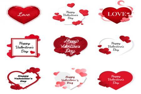 Mẫu vector trang trí valentine đẹp miễn phí cho thiết kế